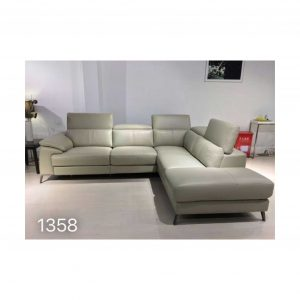 Corner L shape Leather Lounge Couch sofa Cream