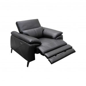 Electric Powered Recliner Leather Sofa