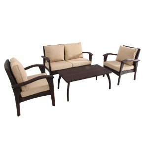 HS012-B-Honolulu Outdoor 4 piece Wicker Lounge Set 01