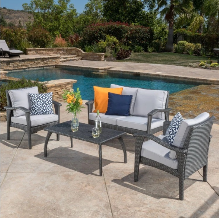 Outdoor Furniture Lounge Set - All 4 Furnishings