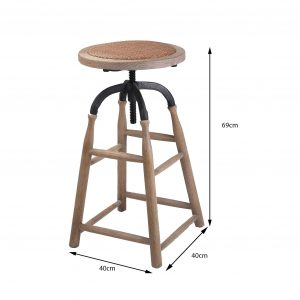 HWC006 Amata Adjustable Height Bar Stool