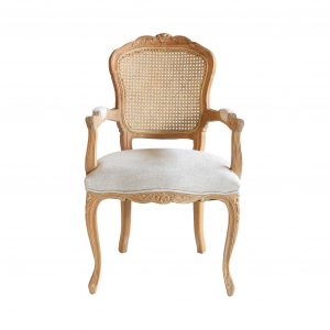 Lacey Provincial Armchair Rattan Back HWC023