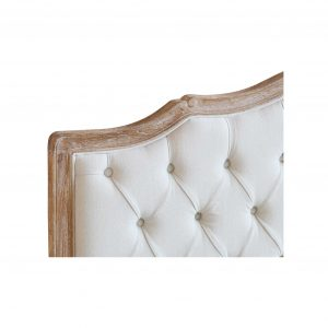 Hughette Linen Bed Frame Button Feature