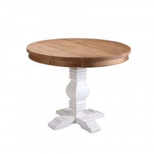 Tayelor Oak Dining Table White Base
