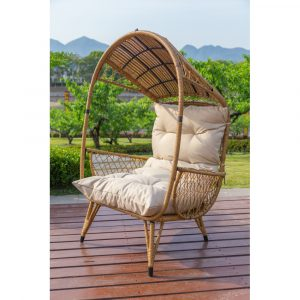 HC5028 Outdoor Koala Wicker Basket Standing Chair with Cushion