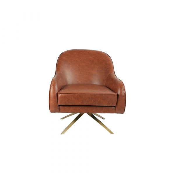 Archibald Birch Wood Accent Chair - Brown HWC042 All 4 Furnishings