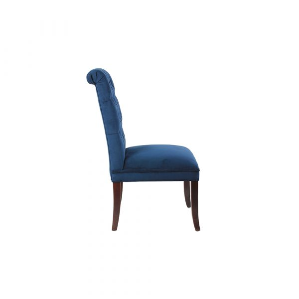 Erich Tufted Velvet Solid Rubber Wood Dining Chair HWC044 All 4 Furnishings