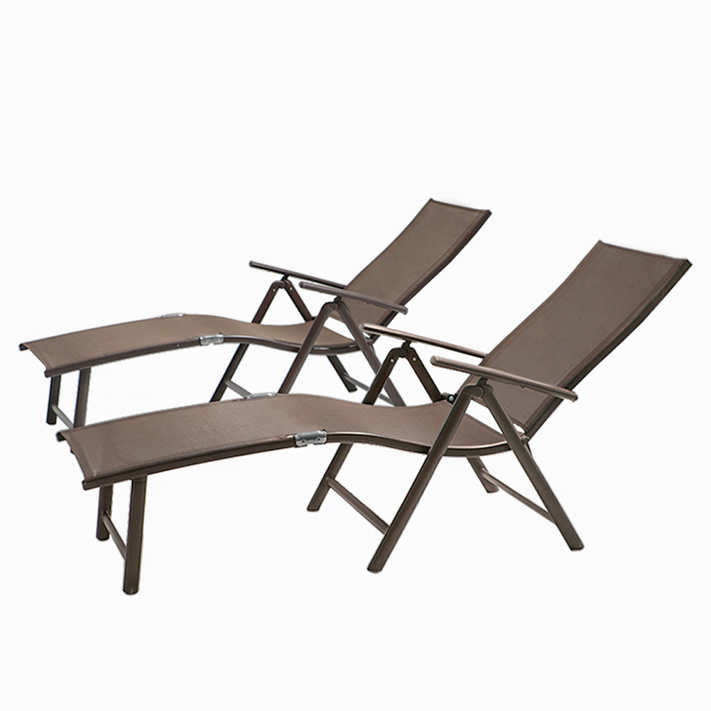 All Weather Aluminum Patio Lounge Chair And Table LG001BRN